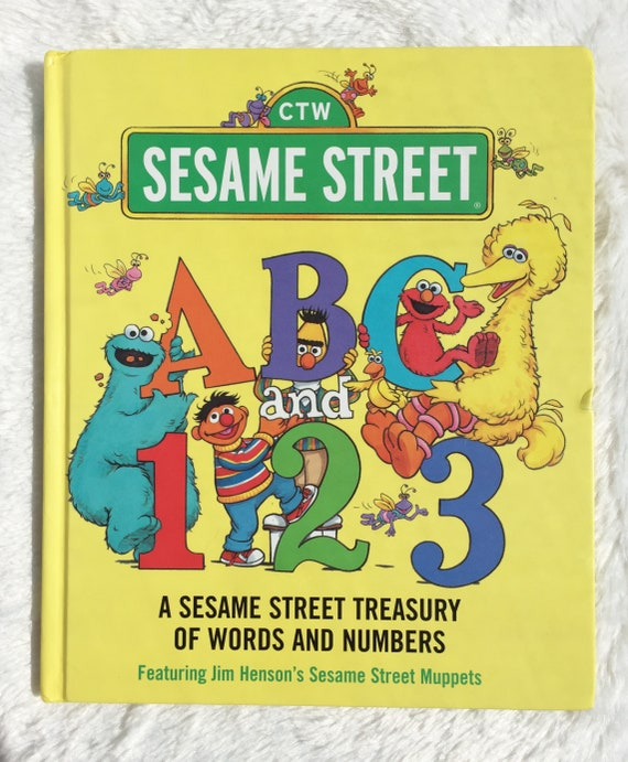 Sesame Street Abc And 123vintage Childrens Book Etsy