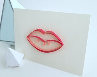Hot Lips - Paper Quilled Lips