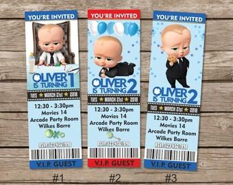 Boss Baby Birthday Invitation Boss Baby Party Invite Boss Etsy
