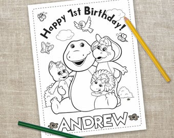 Barney The Dinosaur Digital Coloring Pages 6 Printable Activities