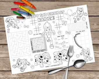 Printable Monster Jam Placemat Kids Activity Table Mat Etsy