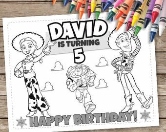Toy Story Birthday Coloring Pages 6 Printable Woody Activities Buzz Lightyear Jessie