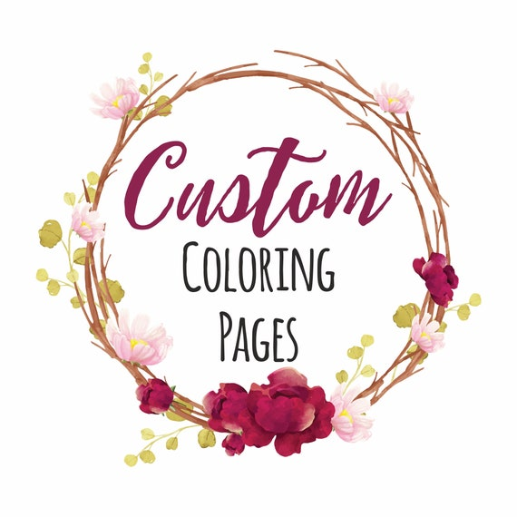 - Reserved Custom Request Coloring Pages Digital Set Of 6 Etsy
