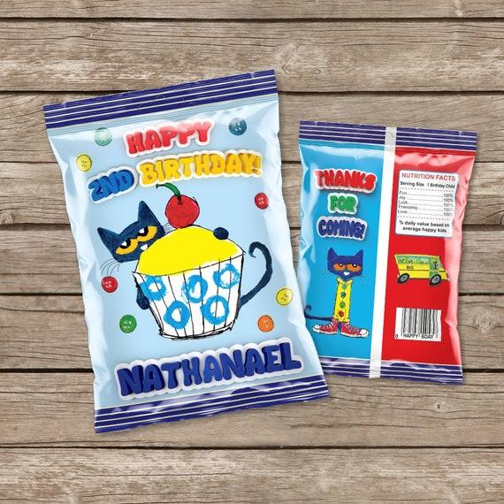 Printable Pete the Cat Chip Bag Pete the Cat Party Favor | Etsy