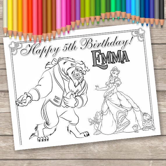 Beauty And The Beast Digital Coloring Pages 6 Belle Printable