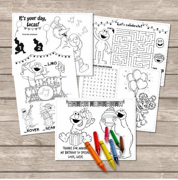 Páginas para colorear de Elmo Sesame street para colorear   Etsy