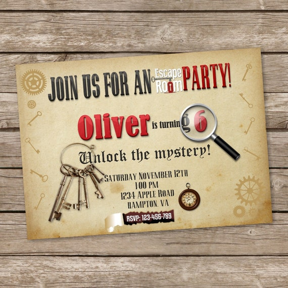 Escape room party invitation escape room party escape room for Escape room party