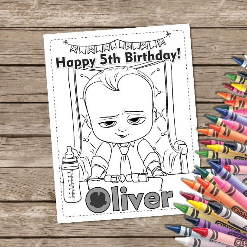 Boss Baby Digital Coloring Pages 6 Boss Baby Printable Etsy