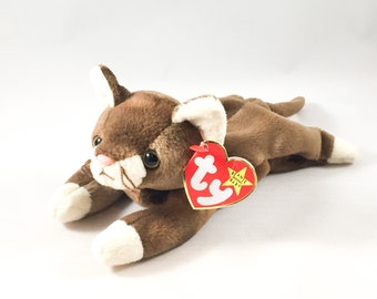 3e9f602b4a9 Pounce the Cat Plush TY Beanie Baby Retired Vintage Stuffed Animal Toy