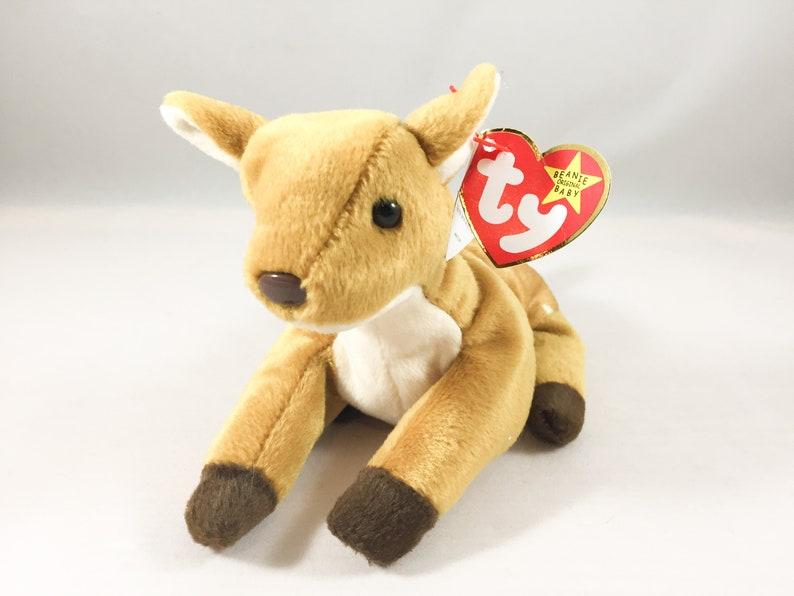 2588dc84e6d Whisper the Deer Plush TY Beanie Baby Retired Vintage Stuffed