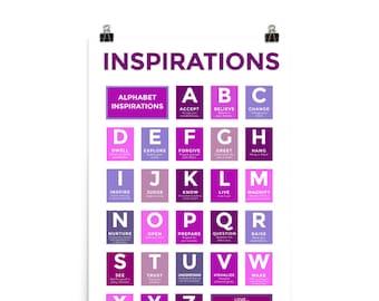 "ABC Inspirations Poster - Purple - 24"" x 36"" Art Print"
