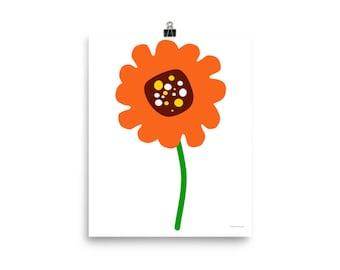 "8""x10"" or 16""x20"" Orange Poppy Art Print"