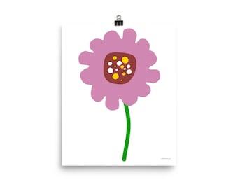 "8""x10"" or 16""x20"" Lavender Flower Art Print"