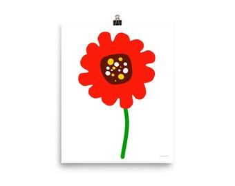 "8""x10"" or 16""x20"" Poppy Art Print"