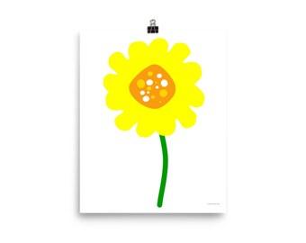 "8""x10"" or 16""x20"" Yellow Flower Art Print"