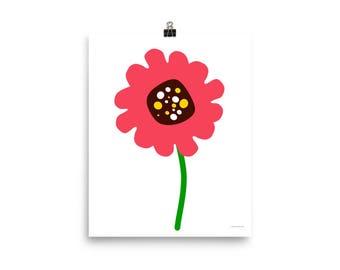 "8""x10"" or 16""x20"" Pink Flower Art Print"