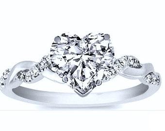 Heart diamond ring | Etsy