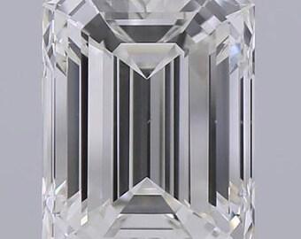 GIA 1.50ct Emerald Diamond GIA certified J-VVS2 Blueriver4747 Loose Diamond Engagement Ring GIA