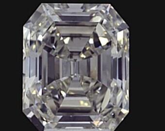 GIA 6.01ct Emerald Diamond GIA certified H-VVS2 Blueriver4747 Loose Diamond Engagement Ring GIA 3 payments Layaway