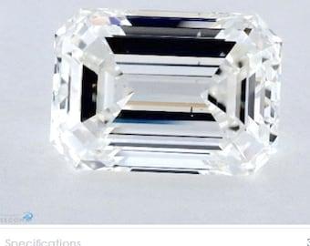 Genuine GIA 4.02ct Emerald Diamond GIA certified H-SI1 Blueriver4747 Loose Diamond