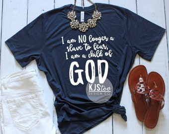 6cc36253 Child Of God Tee - Religious Tees - Scripture Tees - I Am A Child Of God  Shirt - Woman's Tees - Cute Women's Tee - Soft Scripture Tee