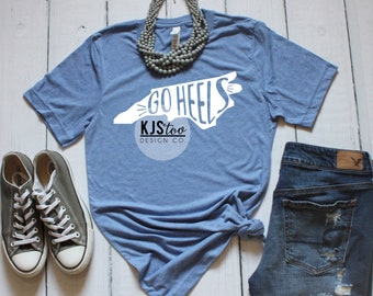 University of North Carolina Tee - Tar Heels TShirt - North Carolina Shirt  - UNC Tee - Go Heels Tee - UNC Football Tee - UNC Tar Heels 8676f05bd