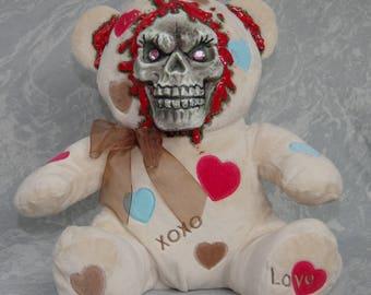 Tan Pink Eye Valentine Bear