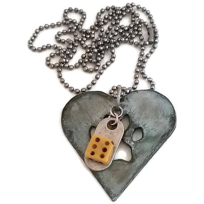 fun gift puppy love paw prints dog lover pendant necklace Paws on my heart