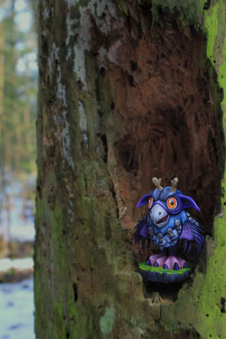 Moonkin Hatchling sculpture World Of Warcraft Handmade figurine.