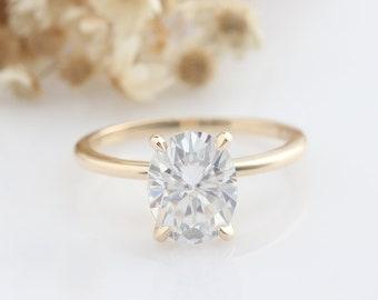 8.00 TCW Oval Cut Simulated Diamond 14k White Gold Finish Full Eternity Wedding Band Ring