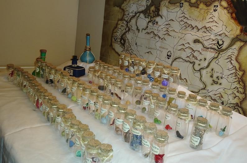 Skyrim Alchemy Potion Bottle Ingredients