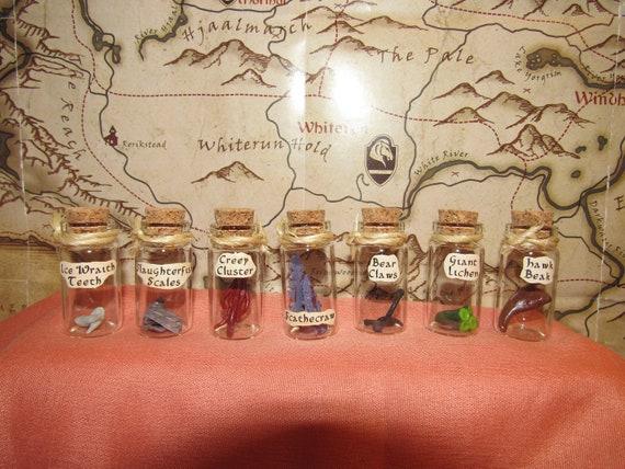 Skyrim Alchemy Potion Bottle Ingredients Custom Made Every Etsy