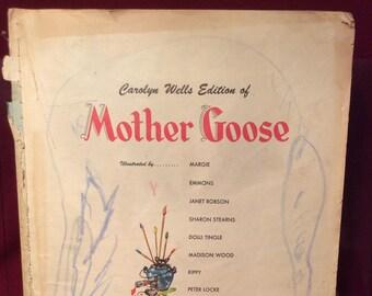 Vintage 1946 Mother Goose Nursery Rhymes