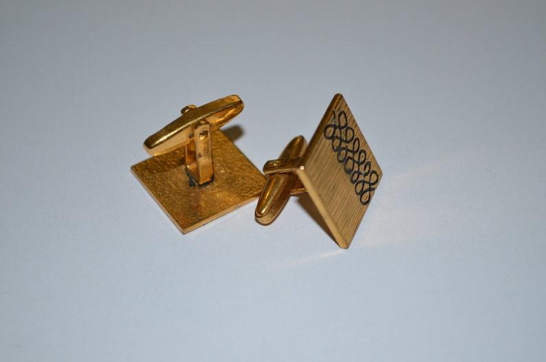 Vintage Goldtone Cufflinks Mens Cufflinks Made in USSR