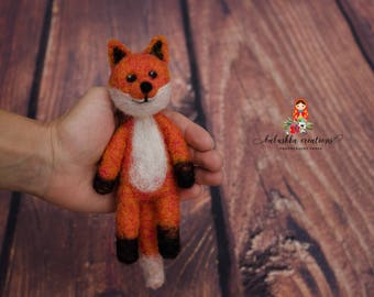 Felted Fox Newborn Photography Prop