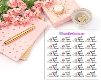 SP-040 Luna the Sloth Work From Home Planner Stickers