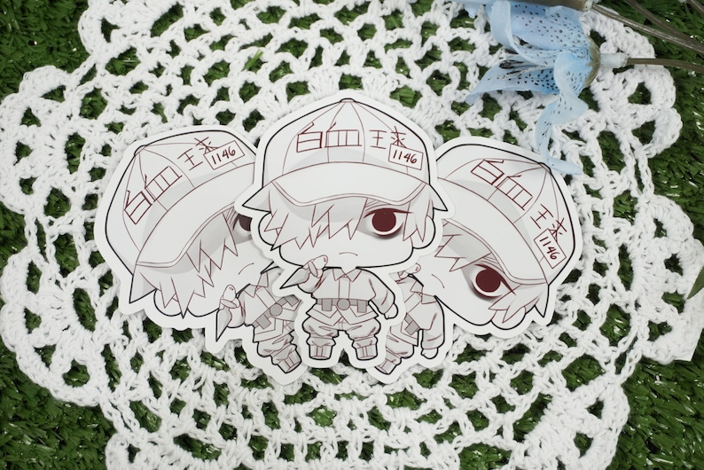 White Blood Cell Glossy Sticker Paper