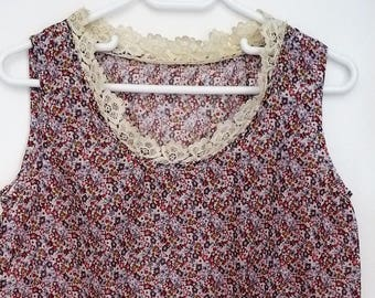 Antique lace and liberty way floral blouse