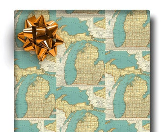 Map wrapping paper | Etsy