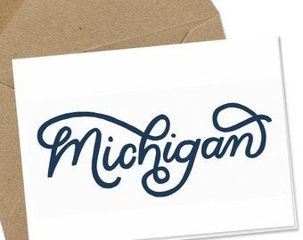 Michigan Script Notecard