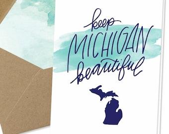Keep Michigan Beautiful Notecard
