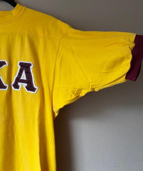 Vintage Fraternity T Shirt XL Delt Frat Delta House Animal House Ringer Football Jersey Style tee Delts Deltas Russell Athletic 80s 90s vtg