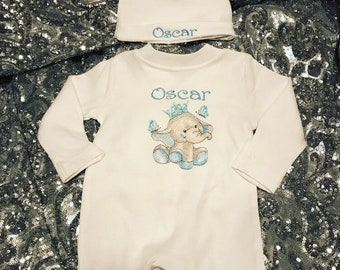 custom baby grow Ideal gift for new baby jumpsuit Personalised sleepsuit for baby in outer space print cotton fabric sibling