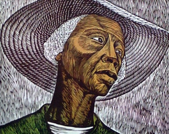 Elizabeth Catlett- Sharecropper (Offset Print)