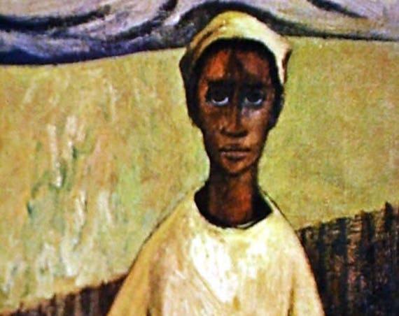 Samella Lewis- Boy With Flute (Offset Print)