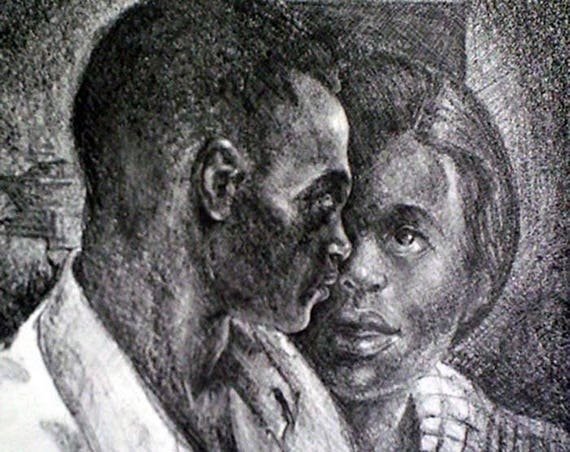 Samella Lewis- Couple (Offset Print)