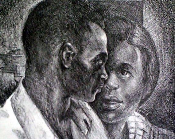 Samella Lewis- Couple (Offset Print)