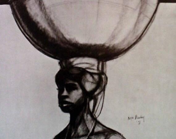 Herman Kofi Bailey- African Series #3 (Offset Print)