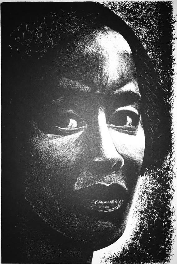 Elizabeth Catlett- Cabeza (Head) (Offset Print)