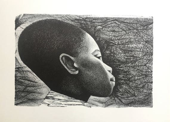 Elizabeth Catlett- Negroes Bello I (Black Is Beautiful) (Offset Print)